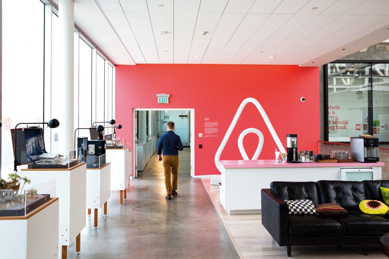 Escritório do Airbnb em São Francisco, Califórnia.