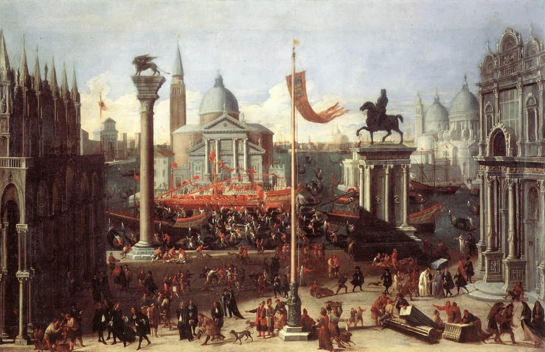 Cena imaginária com edifícios venezianos, por Joseph Heintz